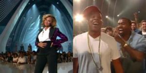 Beyonce Jay-Z and Kanye West at VMAs